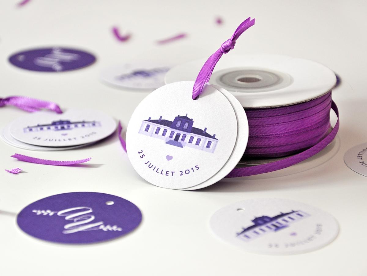 Papeterie sur-mesure : champêtre violet