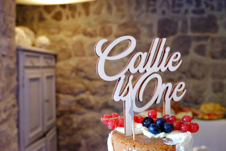 Cake topper sur-mesure