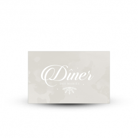 Invitation repas beige, papeterie mariage hivernal