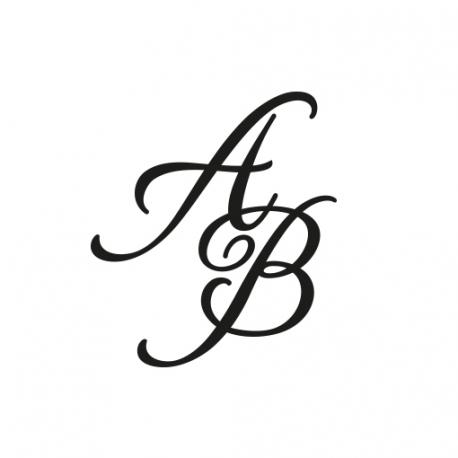 Sceau cachet de cire personnalisé initales calligraphie mariage romantique