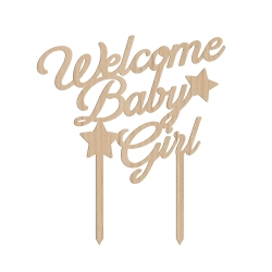 Cake topper welcome baby girl