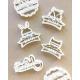Biscuits maison anniversaire baptême baby shower, emporte-pièce personnalisé