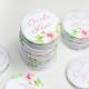 Magnet personnalisé mariage, thème fleuri pivoine, cadeaux d'invités originaux