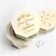 Boîte à alliances octogonale en bois mariage champêtre