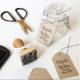 Cadeaux d'invités mariage personnalisés avec tampon encreur