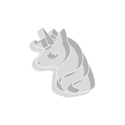 Emporte-pièce tête de licorne