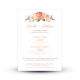 Faire part mariage aquarelle Arche Florale