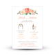 Invitation mariage arche fleurie peint à l'aquarelle