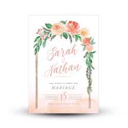 Échantillon invitation aquarelle Arche Florale