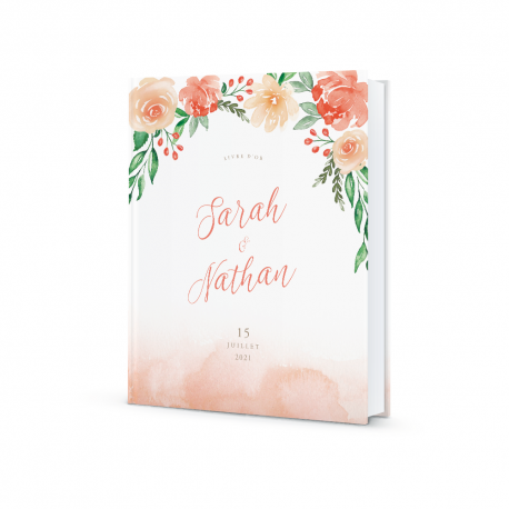 Livre D Or Mariage Personnalise Fleuri Print Your Love