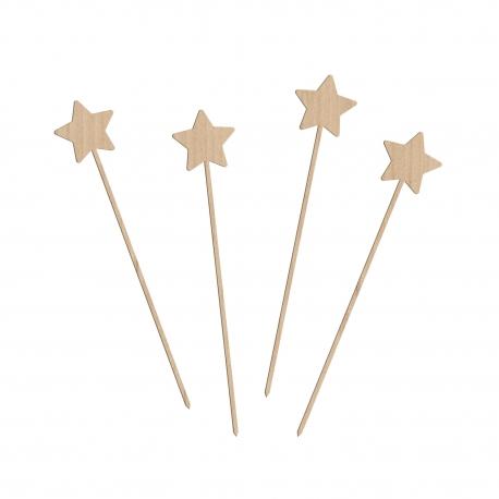 Lot de 4 cake toppers étoile pour décorer vos gâteaux