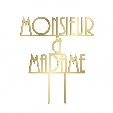 Cake topper mariage monsieur madame Gatsby
