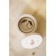 Boite à alliances en bois personnalisée couronne de lavande
