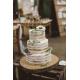 Cake topper mariage personnalisé modèle calligraphie Mr&Mrs