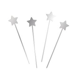 Pic étoile plexiglas argent décoration gâteau