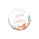 Cadeaux d'invités mariage originaux : magnets personnalisés mariage fleuri