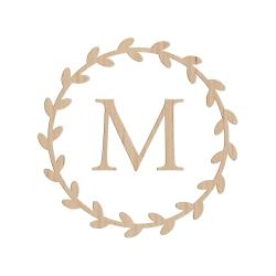 Enseigne personnalisée couronne végétale avec initiale