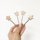 Pic en bois étoile pour décorer vos gâteaux
