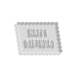 Emporte-pièce anniversaire happy birthday forme petit lu