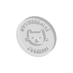 Emporte-pièce anniversaire rond chat