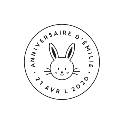 Tampon rond tête de lapin