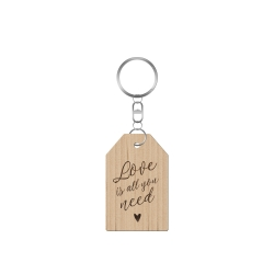Porte-clé en bois love is all you need