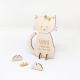 Faire-part naissance chat à personnaliser modèle en bois
