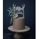 Cake topper bois de cerf love gâteau chocolat
