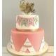 Cake topper personnalisé argent premier anniversaire