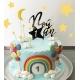 Cake topper anniversaire personnalisé thème étoile galaxie