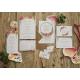 Faire-part mariage aquarelle Gipsy attrape-rêves et fleurs vitaminées