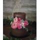 Cake topper personnalisé mariage modèle calligraphie en bois