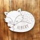 Cadeau naissance enseigne renard endormi personnalisée