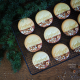 Biscuits personnalisés avec emporte-pièce calligraphie photo Ouiouiouistudio