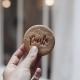 Biscuits personnalisés avec prénom emporte-pièce calligraphie moderne