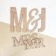 Enseigne en bois initiales mariage