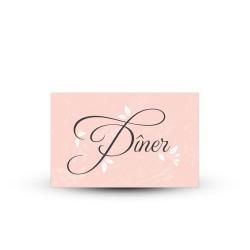 Carte invitation repas personnalisée mariage ardoise et fleurs