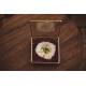 Mariage champêtre boîte à alliances en verre personnalisée