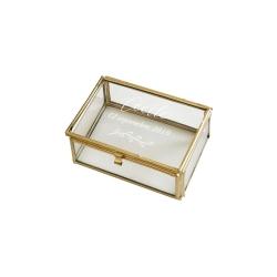 Boîte en verre rectangle