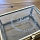 Boîte en verre baptême personnalisée