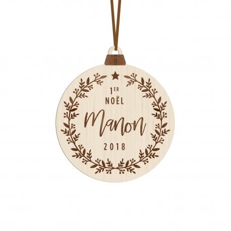 Boule Noel Personnalisée Boule de Noël en bois personnalisée avec prénom   Print Your Love