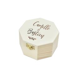 Boîte à alliances personnalisée modèle calligraphie moderne