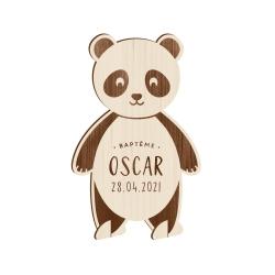 Faire-part baptême original panda