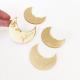 Marque-place lune plexiglas doré
