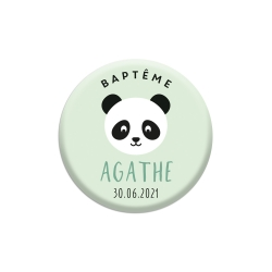 Magnet personnalisé baptême thème panda
