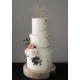 Cake topper mariage personnalisé plexiglas doré écriture calligraphie