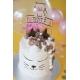Cake topper anniversaire personnalisé chat
