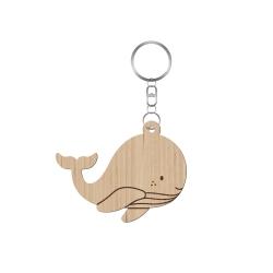 Porte-clés baptême personnalisé modèle baleine
