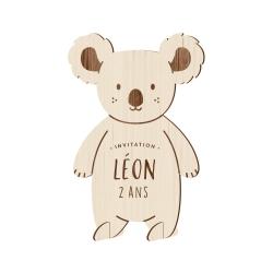 Invitation anniversaire personnalisée thème koala