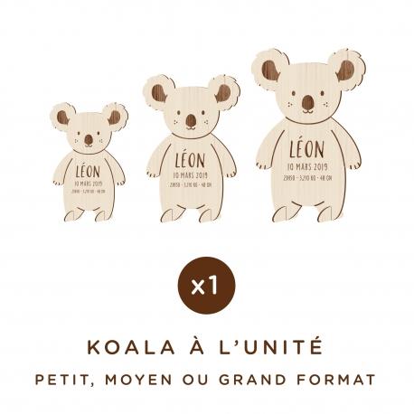 Décoration en bois koala à personnaliser